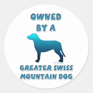 より素晴らしいスイス山犬によって所有される ラウンドシール