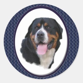 より素晴らしいスイス山犬のギフト ラウンドシール