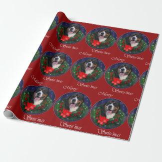より素晴らしいスイス山犬のクリスマス ラッピングペーパー