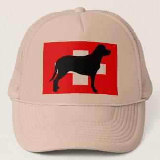 より素晴らしいスイス山犬のサイロの旗スイス連邦共和国f キャップ