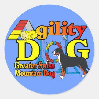 より素晴らしいスイス山犬の敏捷 ラウンドシール