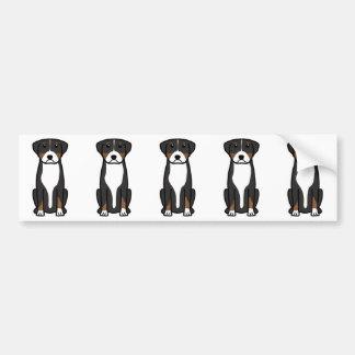 より素晴らしいスイス山犬の漫画 バンパーステッカー