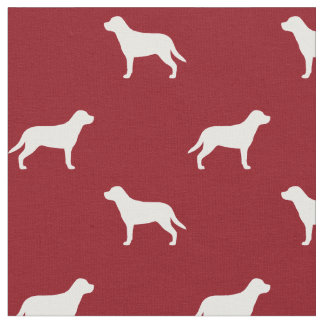 より素晴らしいスイス山犬はパターン赤のシルエットを描きます ファブリック