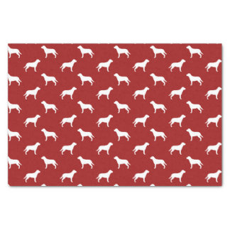 より素晴らしいスイス山犬はパターン赤のシルエットを描きます 薄葉紙
