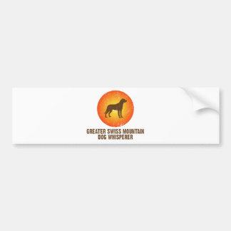 より素晴らしいスイス山犬 バンパーステッカー