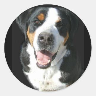 より素晴らしいスイス山犬: 幸せ ラウンドシール