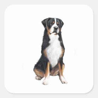 より素晴らしいスイス山犬(a) スクエアシール