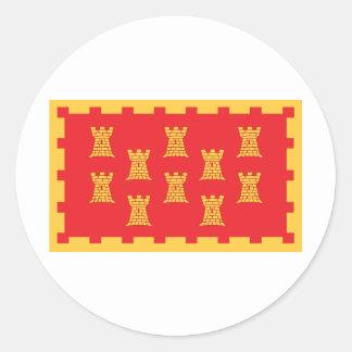 より素晴らしいマンチェスターの郡旗 ラウンドシール