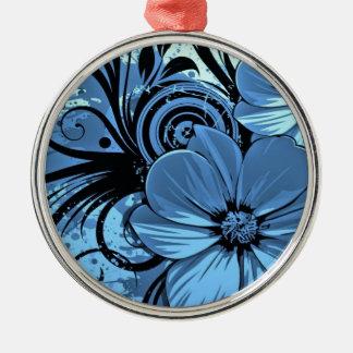 より青い花 メタルオーナメント