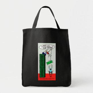 より高く華麗で皮肉な漫画のバッグを跳んで下さい トートバッグ