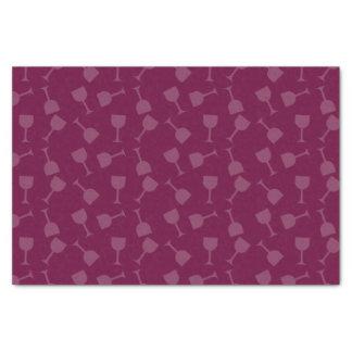 よろよろしているワイングラス 薄葉紙