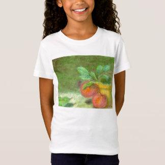りんごおよびナシ、子供のワイシャツまたはTシャツ Tシャツ
