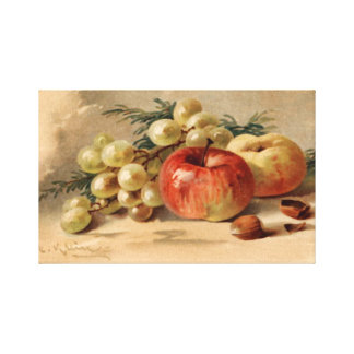 りんごおよびブドウによって伸ばされるキャンバスのプリント キャンバスプリント