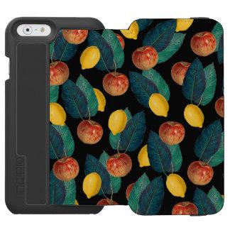 りんごおよびレモン黒 INCIPIO WATSON™ iPhone 5 財布型ケース