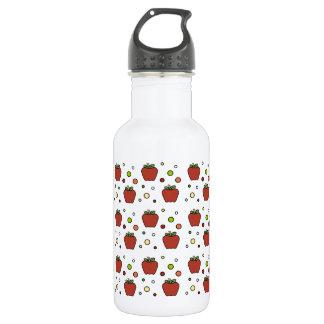 りんごおよび水玉模様 ウォーターボトル