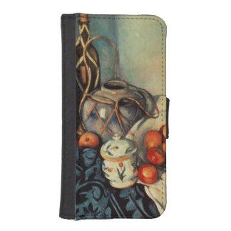 りんごが付いている静物画、1893-94年 iPhoneSE/5/5sウォレットケース