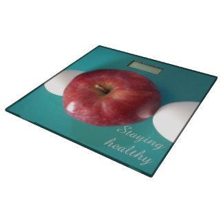 りんごと健康日蛋白質をとどまります 体重計