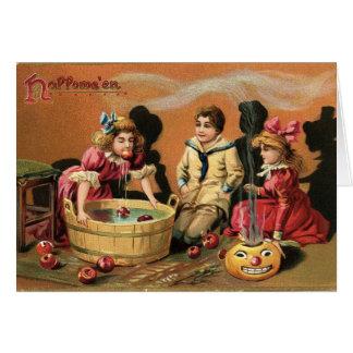 りんごのために振れるハロウィン カード