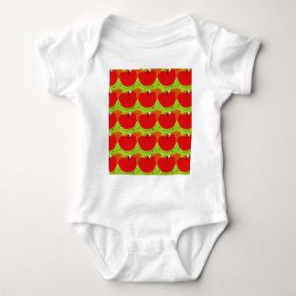 りんごのりんごのりんご ベビーボディスーツ