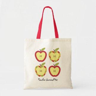 りんごのカスタマイズ可能な文字 トートバッグ