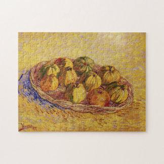 りんごのゴッホのバスケット、ヴィンテージの静物画の芸術 ジグソーパズル