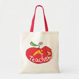 りんごのバッグが付いている素晴らしい先生のりんご トートバッグ