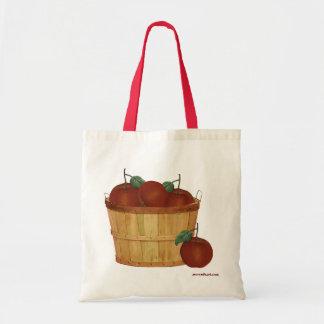 りんごのバッグのバスケット トートバッグ