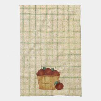りんごの台所タオルのバスケット キッチンタオル