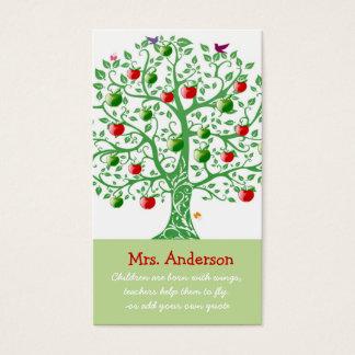 りんごの木の先生の引用文の先生 名刺