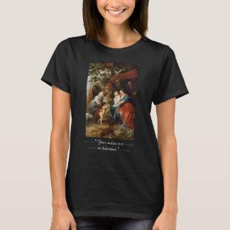 りんごの木Rubensポールの下の神聖な家族 Tシャツ