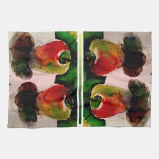 りんごの水彩画の台所芸術のDishcloth キッチンタオル