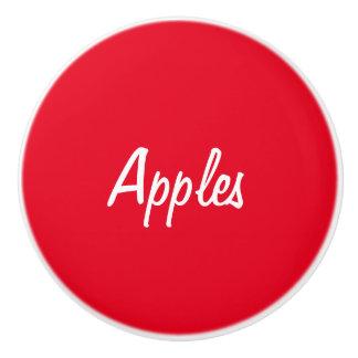 りんごの陶磁器のノブ セラミックノブ