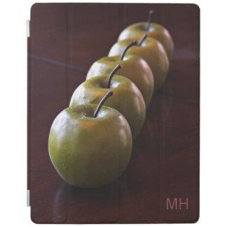 りんごの静物画のカスタムなモノグラム装置カバー iPadスマートカバー