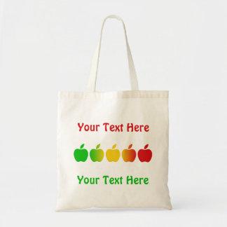 りんごは袋に入れます-、スタイル及び色を選んで下さいカスタマイズ可能 トートバッグ