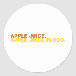 りんごジュース。 りんごジュースの洪水 ラウンドシール