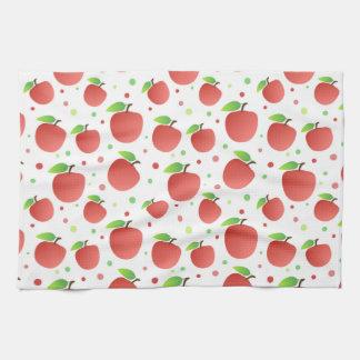 りんごパターン キッチンタオル