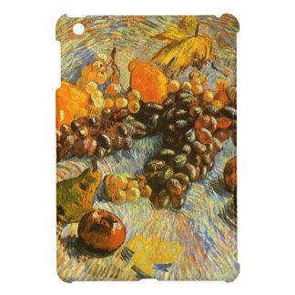 りんご、ナシ、ブドウ-ゴッホが付いている静物画 iPad MINIケース
