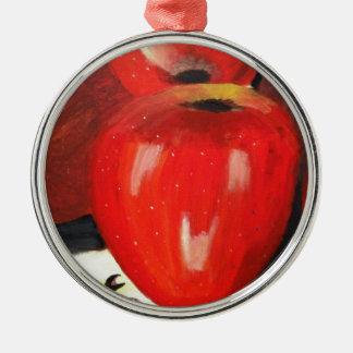 りんご メタルオーナメント