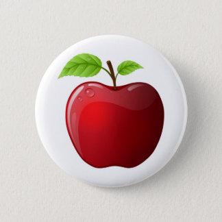 りんご 5.7CM 丸型バッジ