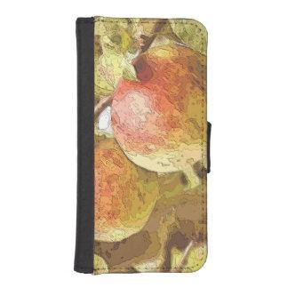 りんご iPhoneSE/5/5sウォレットケース