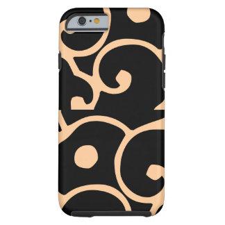 りんごiphone6の美しいデザインの場合の黒の背部 ケース