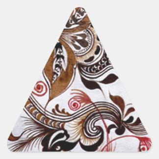 ろうけつ染めのグラフィックアートno4 三角形シール