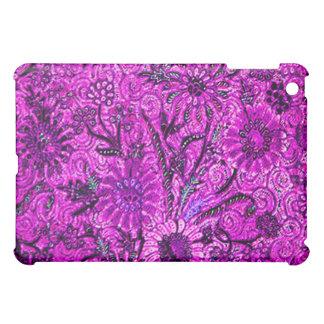 ろうけつ染めのモチーフのBuket-Kelir-Pacit-Ungkerの紫色のipad iPad Miniカバー