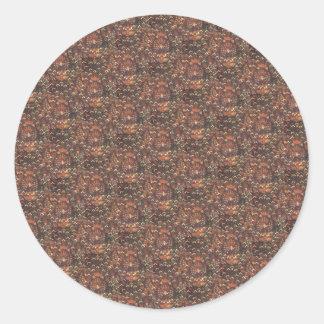 ろうけつ染めのCuwiri伝統的なパターン ラウンドシール
