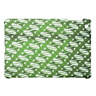 ろうけつ染めは緑のParang Gendreh Soganを包装します iPad Miniケース