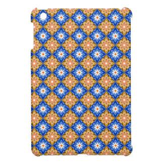 ろうけつ染め青いnの茶色 iPad miniカバー