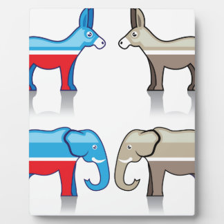 ろばおよび象の政党 フォトプラーク