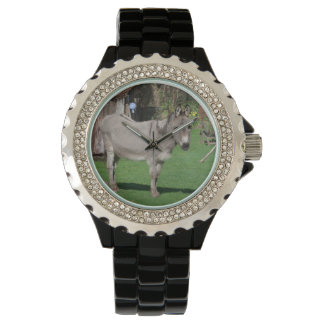 ろばが付いている田園静物画 腕時計