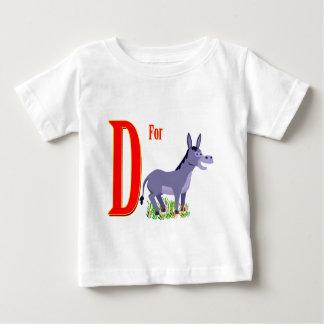 ろばのためのD ベビーTシャツ