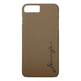 ろば茶色色の背景 iPhone 8 PLUS/7 PLUSケース